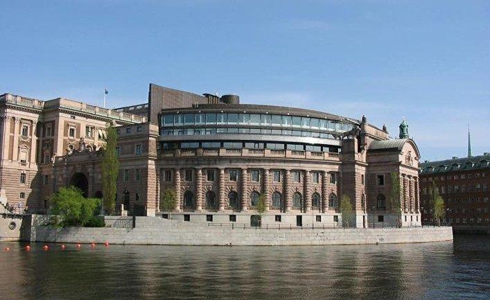 Здание риксдага в Стокгольме