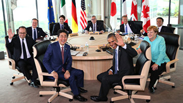 Лидеры стран-участниц саммита G7 в Японии