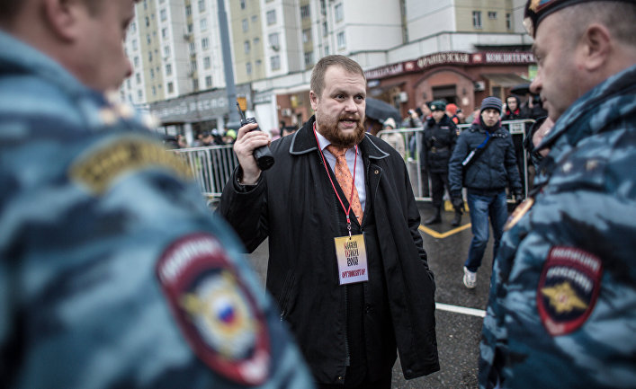 Лидер националистического объединения Дмитрий Демушкин