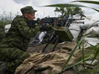 Позиции ополченцев рядом с городом Докучаевск, июнь 2015 года