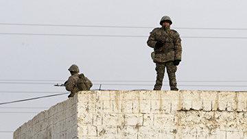 Солдаты в центре города Жанаозен