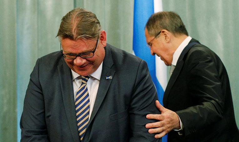 Встреча министров иностранных дел России и Финляндии Сергея Лаврова и Тимо Сойни в Москве