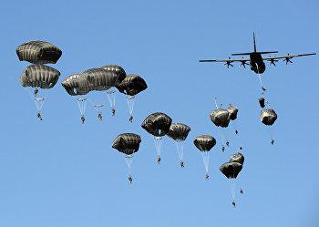 Американские военные во время военных учений НАТО «Анаконда-2016»
