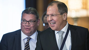 Встреча Сергея Лаврова и Тимо Сойни в Москве