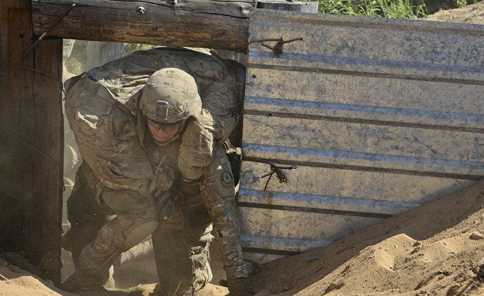 Солдат США, полевые учения Эстония