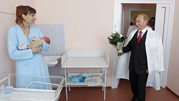 Владимир Путин посетил перинатальный центр в Твери