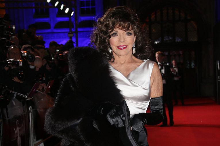 Британская актриса, продюсер, писатель и колумнист Джоан Коллинз