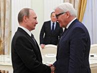 Рабочая встреча президента РФ В.Путина с главой МИД Германии Ф. Штайнмайером