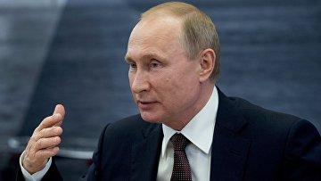 Рабочая поездка президента РФ Владимира Путина в Санкт-Петербург