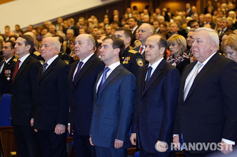 Дмитрий Медведев поздравил с праздником работников органов безопасности