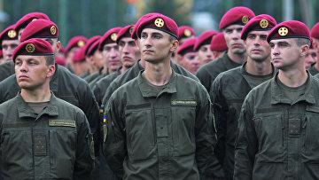 Военнослужащие ВС Украины во время Международных военных учений Rapid trident-2016 во Львовской области