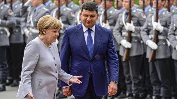 Канцлер Германии Ангела Меркель и премьер-министр Украины Владимир Гройсман