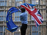 Акция протеста против Брексита в центре Лондона