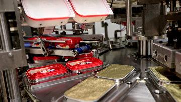 Запуск новой линии по производству плавленого сыра компании Valio