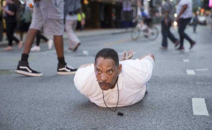 Задержанный во время митинга в Далласе, штат Техас