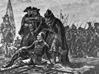 Карл XII и Мазепа после Полтавской битвы