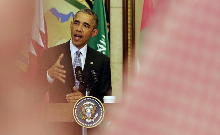 Президент США Барак Обама на пресс-конференции в Эр-Рияде