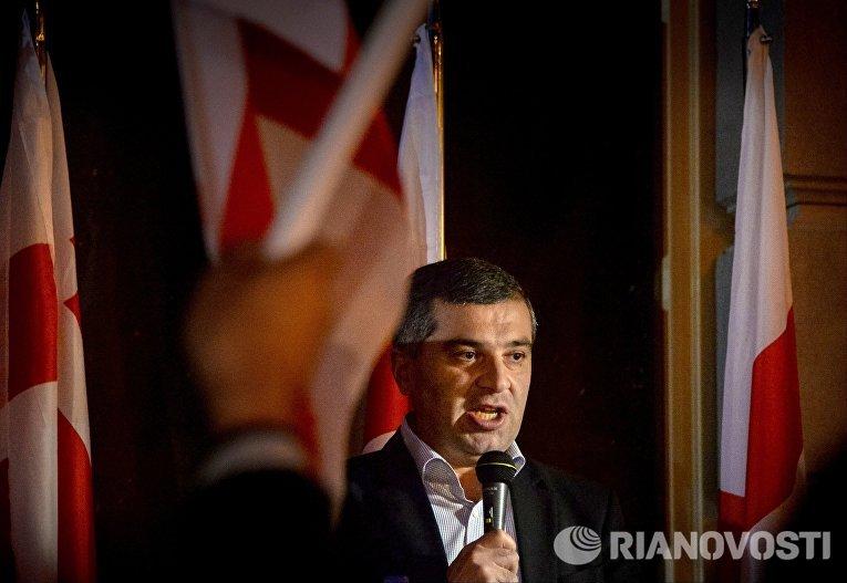 Встреча кандидата в президенты Грузии Давида Бакрадзе с избирателями