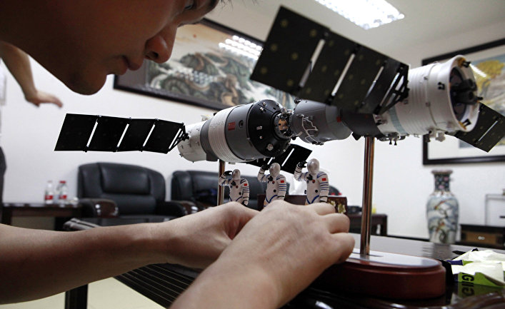 Модель китайской орбитальной станции Тяньгун-1