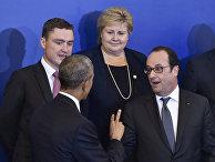 Президента США Барак Обама, премьер-министр Эстонии Таави Рыйвас, премьер-министр Норвегии Эрна Солберг и президент Франции Франсуа Олланд