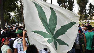 Демонстрация за легализацию марихуаны в Лиме