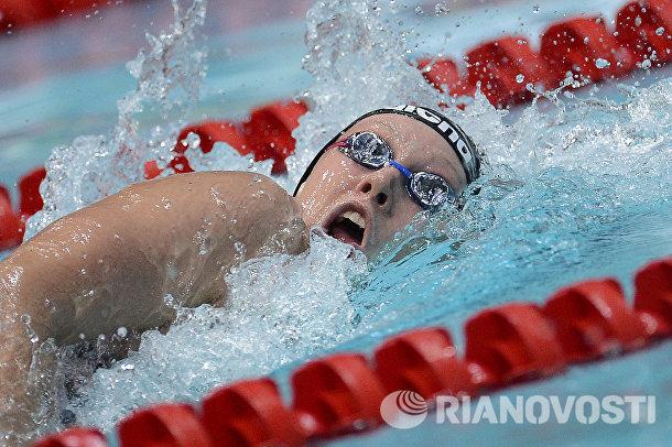 Арина Опенышева на дистанции 400 метров