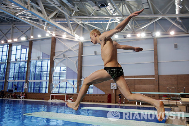 Илья Захаров на тренировке