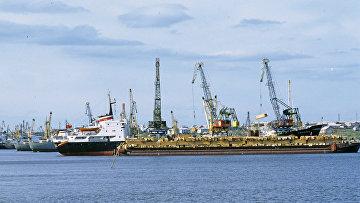Порт Игарка на Енисее