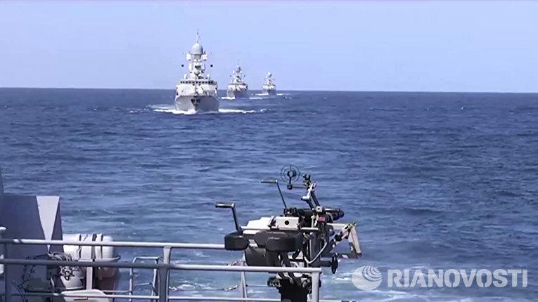 Корабли Каспийской флотилии выполнили пуски крылатых ракет по позициям боевиков ИГ (запрещена в РФ) в Сирии