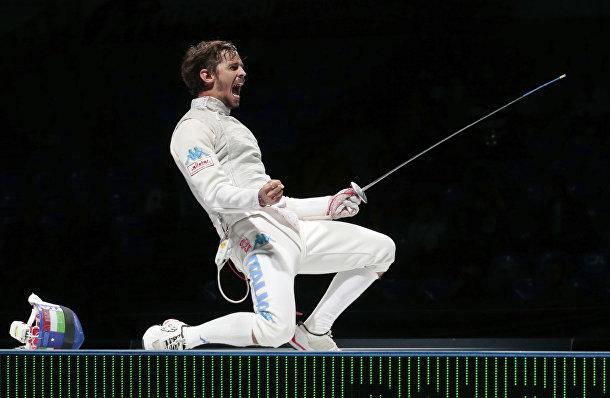 Итальянский фехтовальщик Андреа Балдини