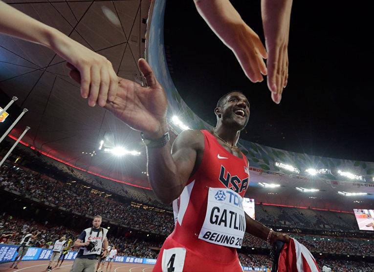 Американский спортсмен Джастин Гэтлин