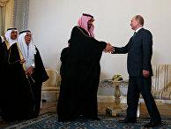 Президент России Владимир Путин и преемник Наследного принца, министр обороны Саудовской Аравии Мухаммед Бен Салман