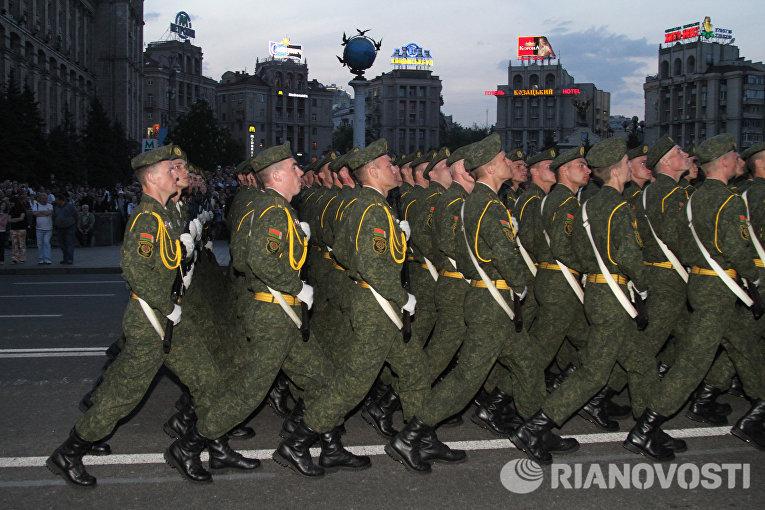 Генеральная репетиция парада ко Дню Победы в Киеве