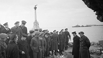 Английские моряки прибыли в Крым на время ялтинской конференции