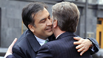 Михаил Саакашвили и Виктор Ющенко