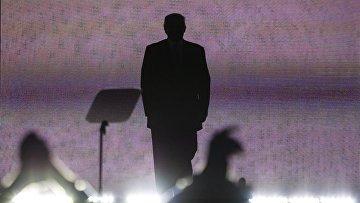 Кандидат в президенты США Дональд Трамп на общенациональном съезде Республиканской партии в Кливленде