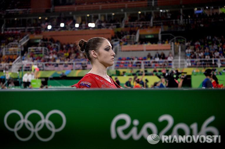 Российская гимнастка Алия Мустафина на XXXI летних Олимпийских играх