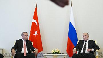 Встреча президента России Владимира Путина и президента Турции Реджеап Тайипа Эрдогана