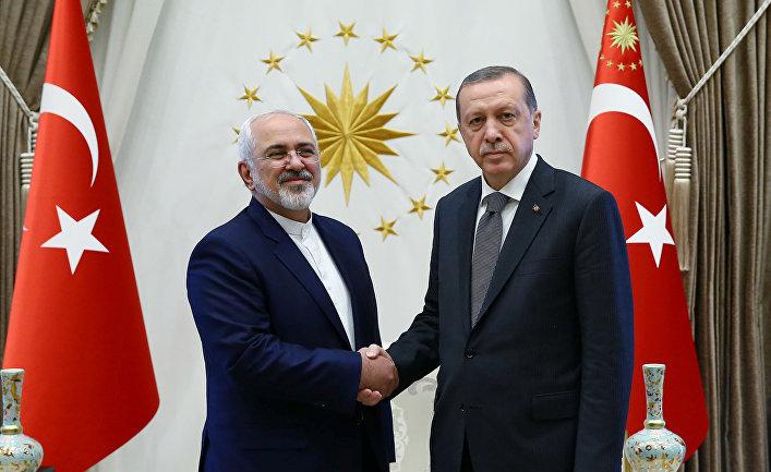 Встреча Реджепа Тайипа Эрдогана и Мохаммада Джавада Зарифа в Анкаре