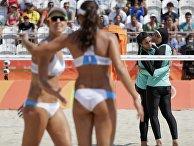 Волейболистки из Египта и Германии на Олимпийских играх в Рио-де-Жанейро