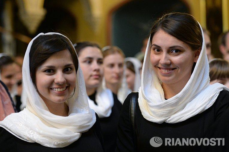 Выпускной акт семинаристов Московской духовной академии