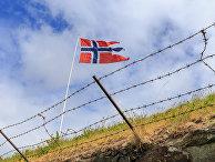Флаг на норвежской границе