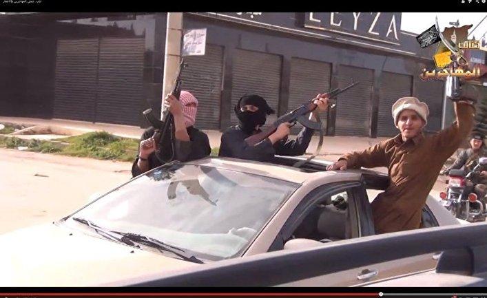 Джихадисты в городе Атмех, Сирия