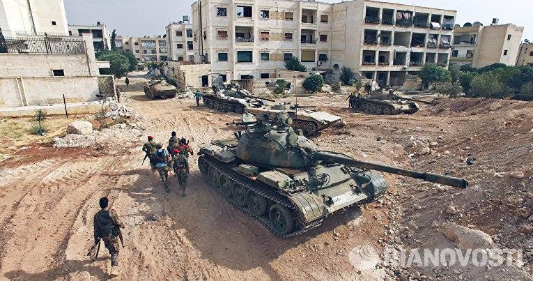 Обстановка в районе артиллерийского училища на юго-западе Алеппо