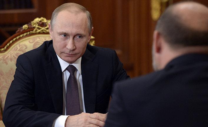Рабочая встреча президента РФ В. Путина с губернатором Архангельской области И. Орловым