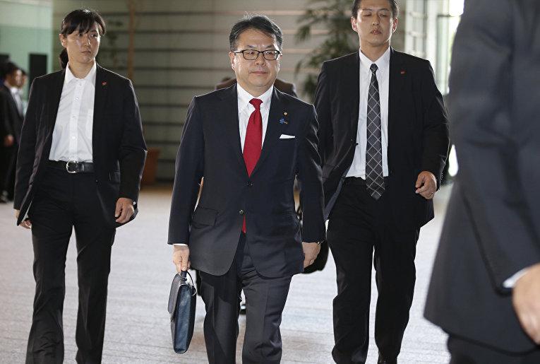 Министр по делам сотрудничества с Россией в области экономики Хиросигэ Сэко