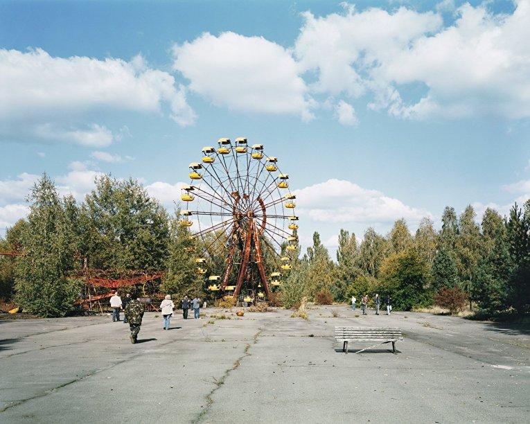 Город Припять в зоне отчуждения Чернобыльской АЭС
