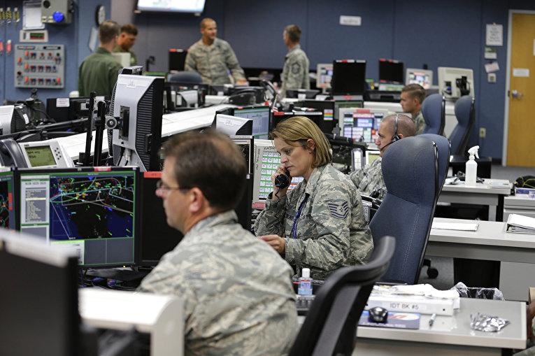 Центр управления ПВО на базе Льюис-Маккорд в штате Вашингтон