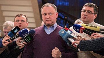 Председатель Партии социалистов Республики Молдова Игорь Додон