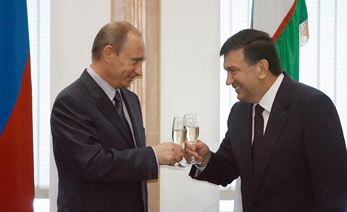 Владимир Путин и Шавкат Мирзияев